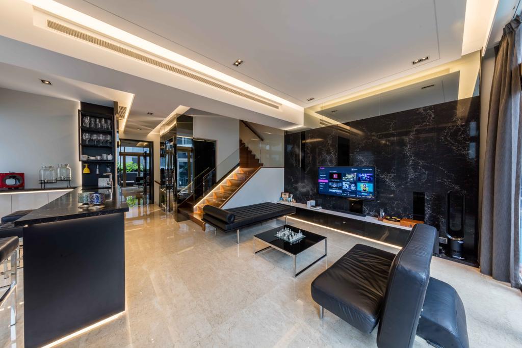 Modern, Landed, Living Room, The Whitley Residences, Interior Designer, Ciseern, Indoors, Interior Design, Kitchen, Room