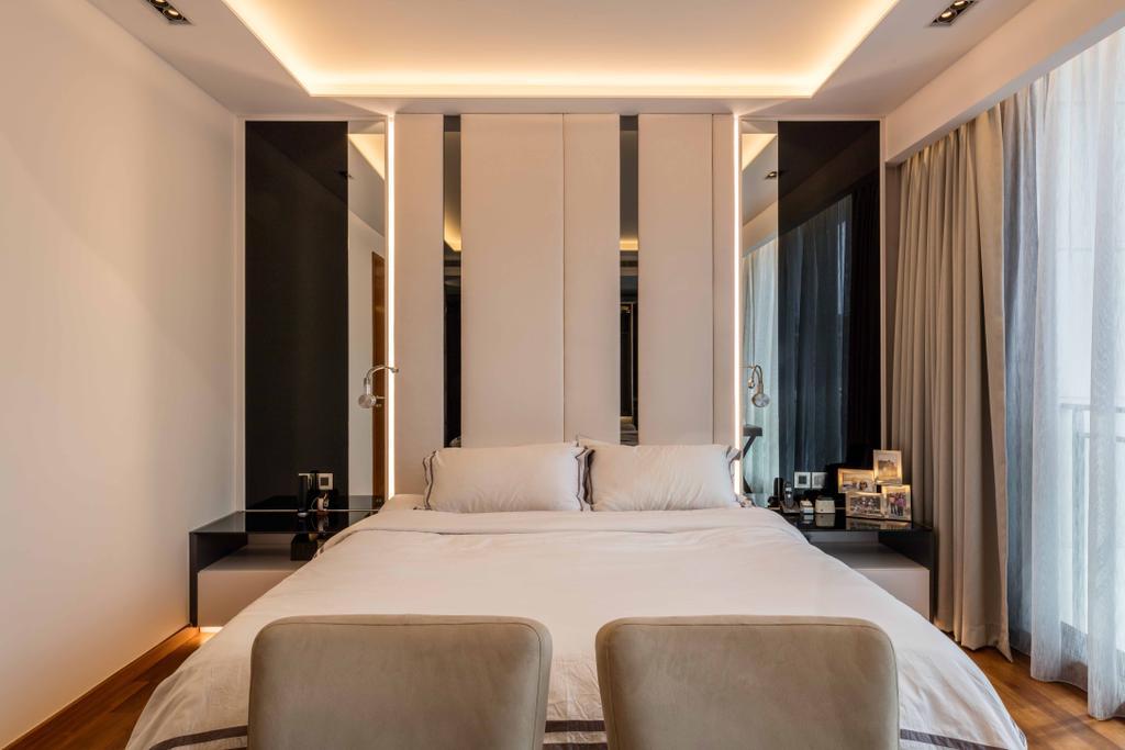 Modern, Landed, Bedroom, The Whitley Residences, Interior Designer, Ciseern, Indoors, Room, Couch, Furniture, Interior Design