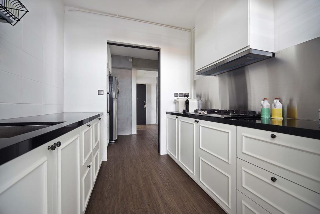 Industrial, HDB, Kitchen, Tampines Central, Interior Designer, Free Space Intent, Indoors, Interior Design, Room