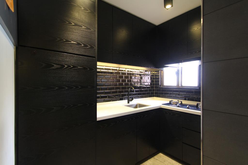 摩登, 公屋/居屋, 廚房, 福運大廈, 室內設計師, Synergy, 浴室, Indoors, Interior Design, Room