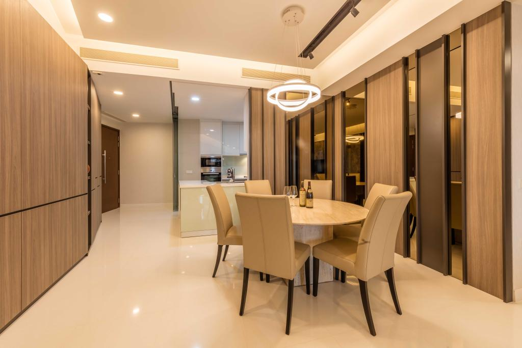 Modern, Condo, Dining Room, D'Leedon, Interior Designer, Ciseern, Dining Table, Furniture, Table, Chair, Conference Room, Indoors, Meeting Room, Room, Interior Design