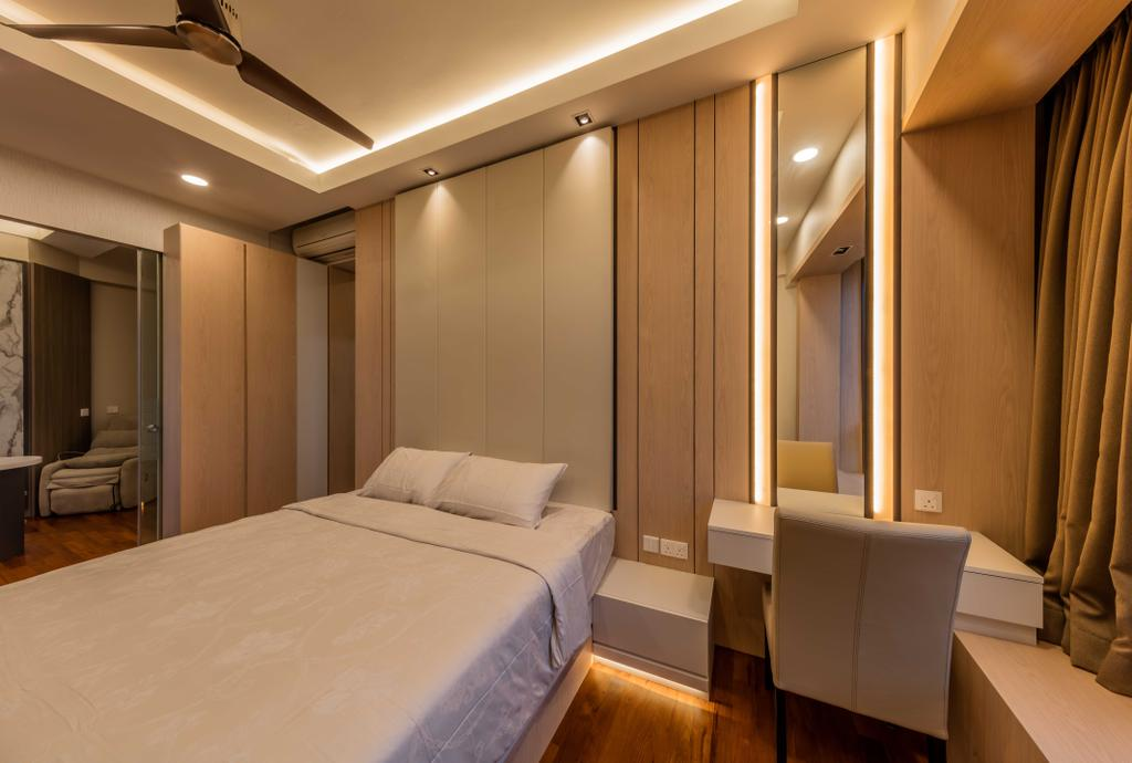 Modern, Condo, Bedroom, D'Leedon, Interior Designer, Ciseern, Indoors, Room, Bed, Furniture, Door, Sliding Door