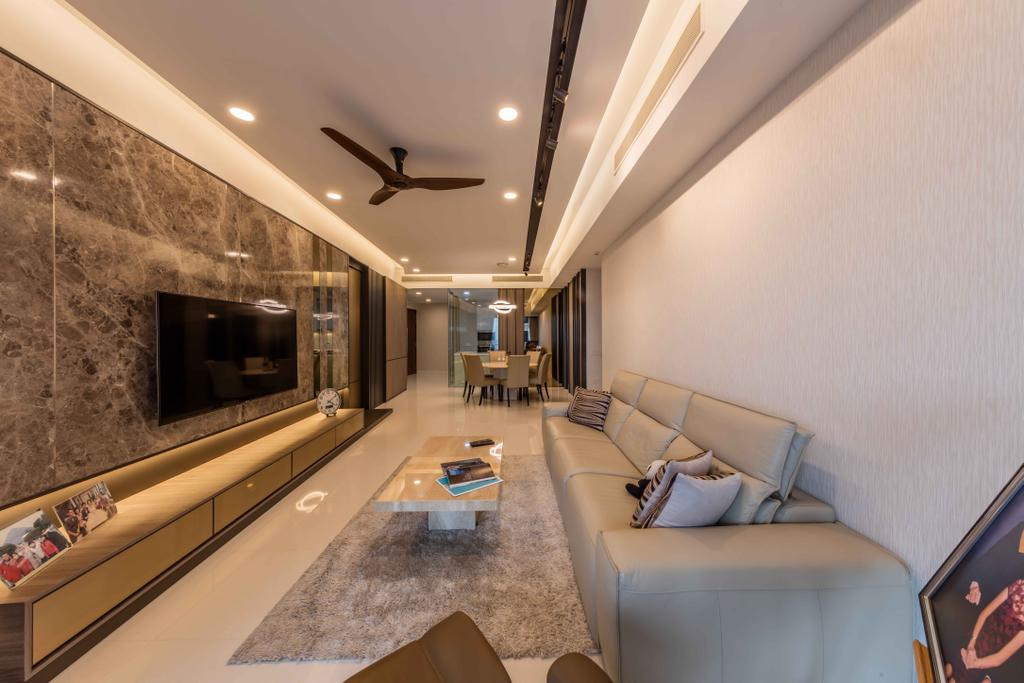 Modern, Condo, Living Room, D'Leedon, Interior Designer, Ciseern, Couch, Furniture, Indoors, Room