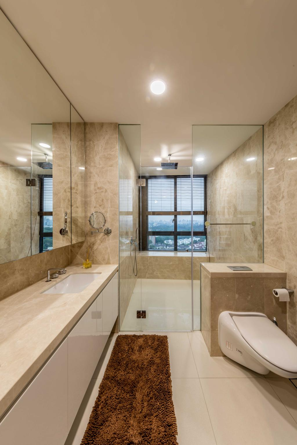 Modern, Condo, Bedroom, D'Leedon, Interior Designer, Ciseern, Bathroom, Indoors, Interior Design, Room