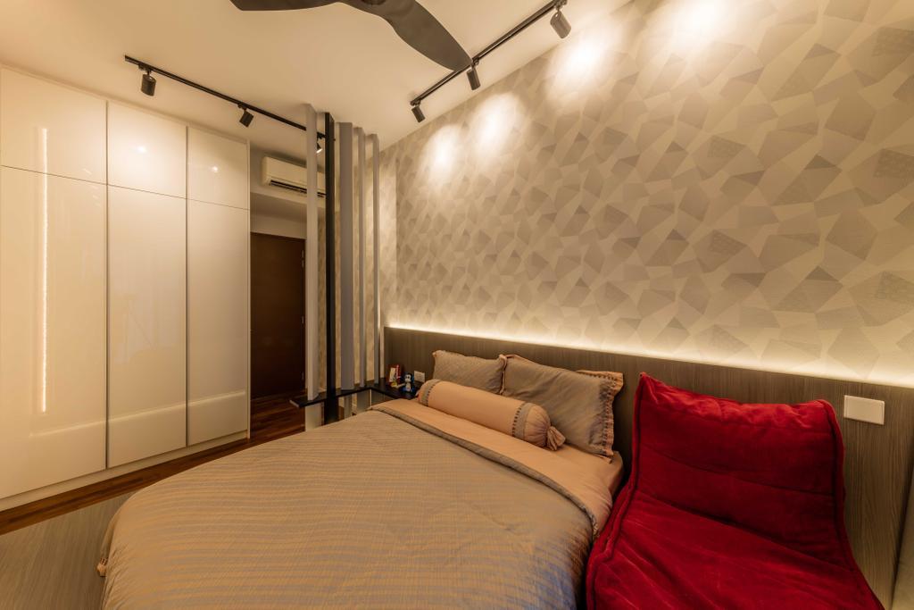 Modern, Condo, Bedroom, D'Leedon, Interior Designer, Ciseern, HDB, Building, Housing, Indoors, Bed, Furniture, Interior Design, Room