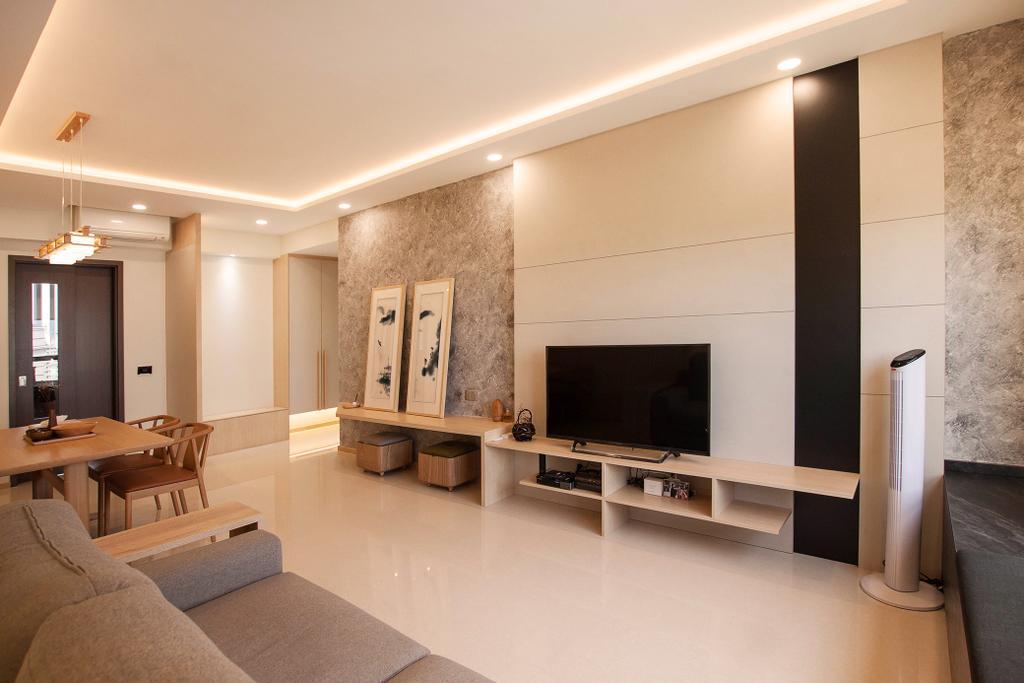Modern, Condo, Living Room, Vue 8, Interior Designer, Space Atelier, Scandinavian, Couch, Furniture, Indoors, Interior Design, Flooring