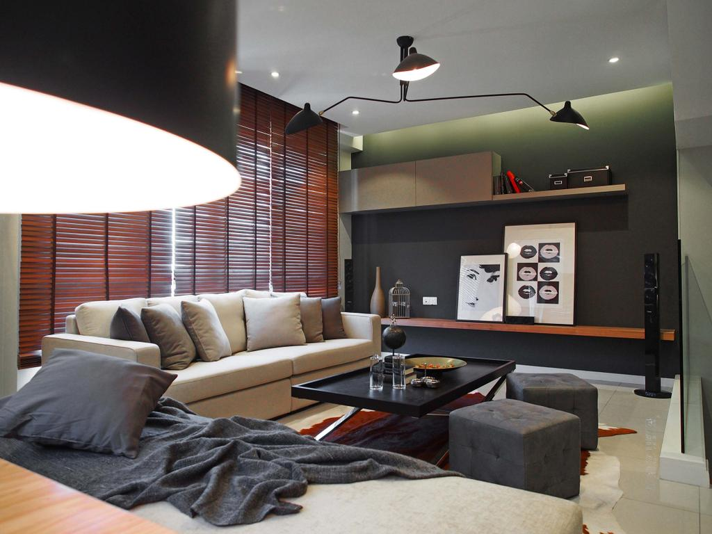 Contemporary, Landed, Living Room, Canary Residence, Interior Designer, Sachi Interiors, Couch, Furniture, Appliance, Electrical Device, Microwave, Oven