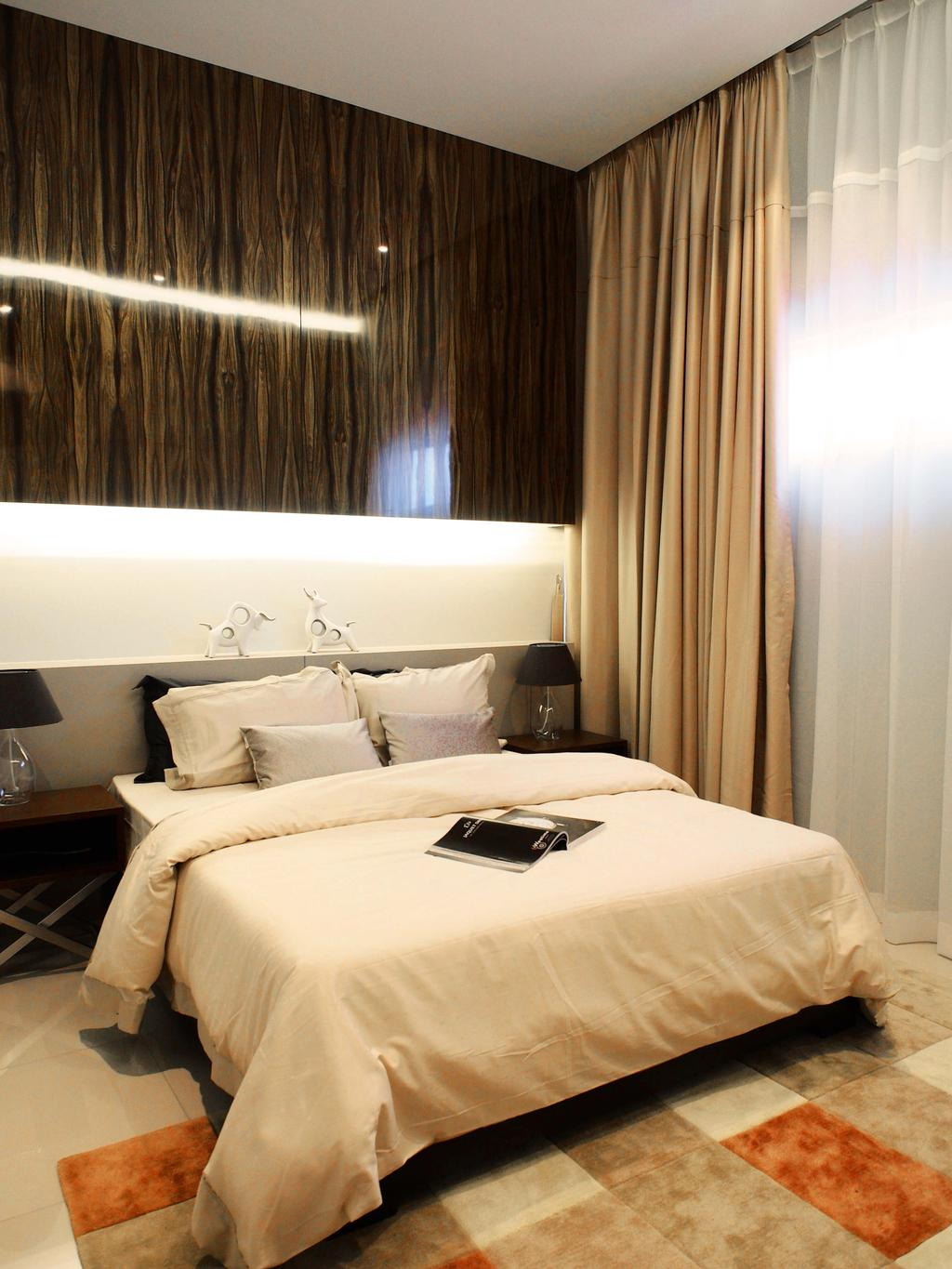 Contemporary, Landed, Bedroom, Canary Residence, Interior Designer, Sachi Interiors, Bed, Furniture