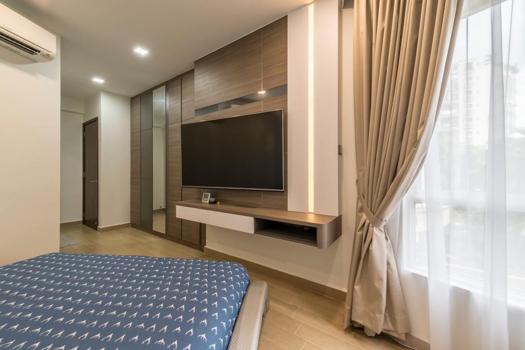 Modern, Condo, Bedroom, Hillview Avenue (Block 51A), Interior Designer, Meter Square, Curtain, Home Decor, Indoors, Room
