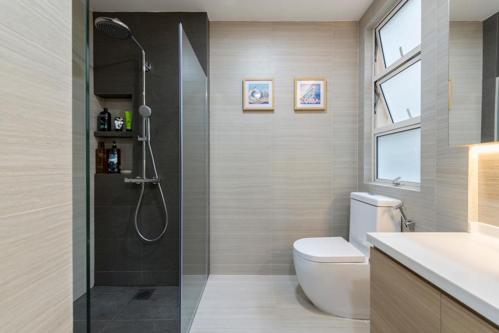 Modern, Condo, Bathroom, Hillview Avenue (Block 51A), Interior Designer, Meter Square, Sink, Indoors, Interior Design, Room, Mirror
