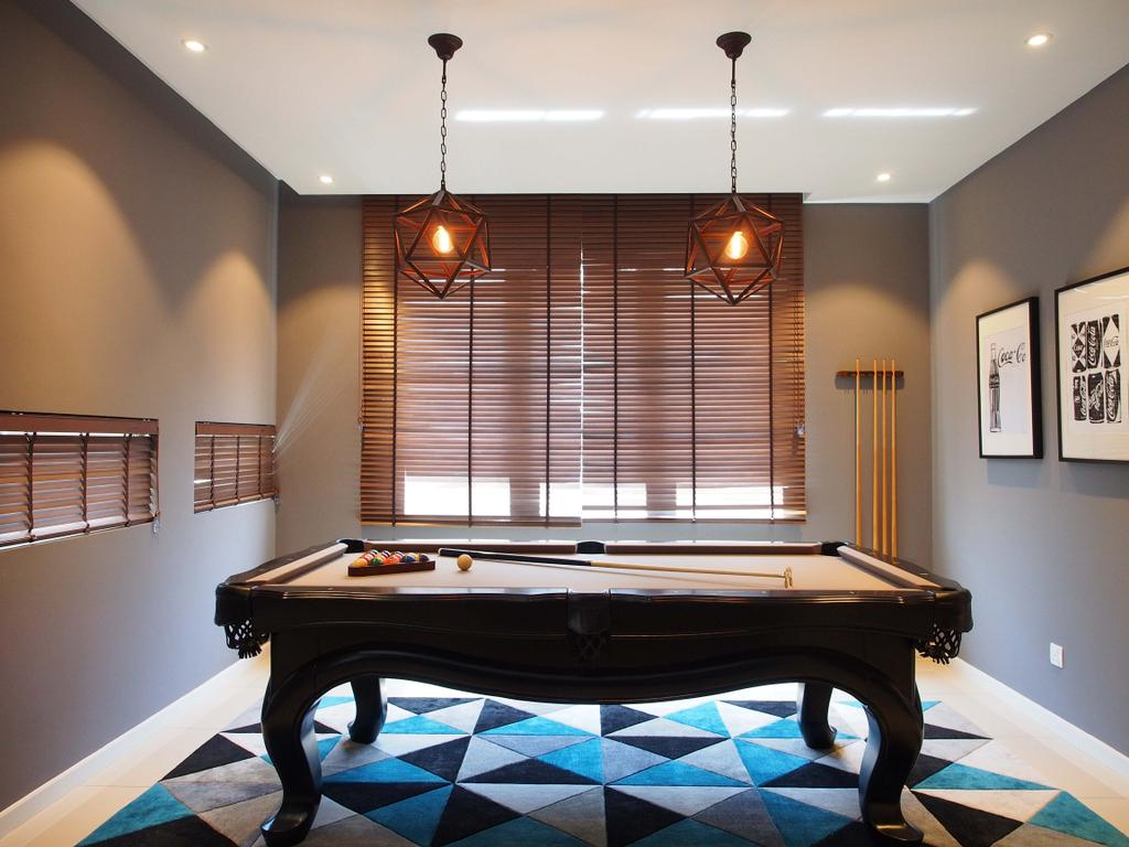 Contemporary, Landed, Canary Residence, Interior Designer, Sachi Interiors, Grand Piano, Leisure Activities, Music, Musical Instrument, Piano, Billiard Room, Furniture, Indoors, Pool Table, Room, Table, Curtain, Home Decor, Window, Window Shade, Dining Room, Interior Design