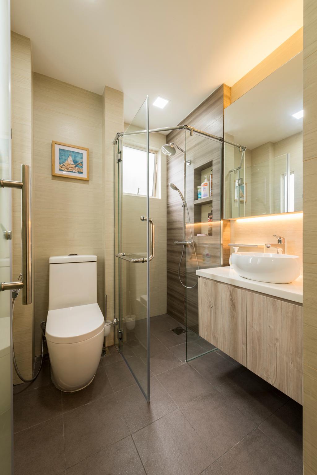Modern, Condo, Bathroom, Hillview Avenue (Block 51A), Interior Designer, Meter Square, Indoors, Interior Design, Room