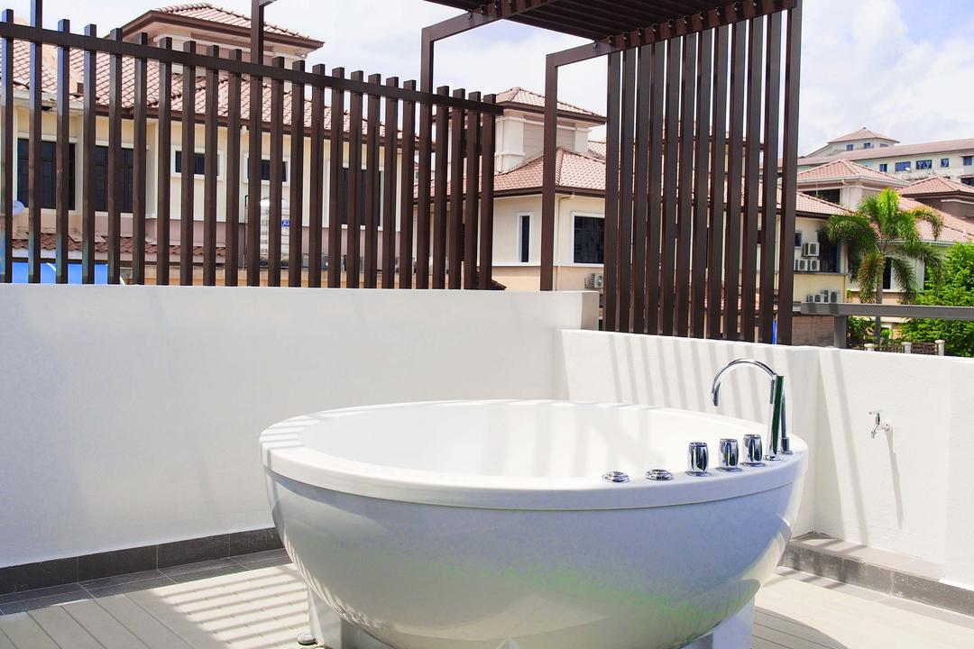 Canary Residence, Sachi Interiors, Contemporary, Bathroom, Landed, Sink, Architecture, Building, Convention Center, Bowl, Mixing Bowl
