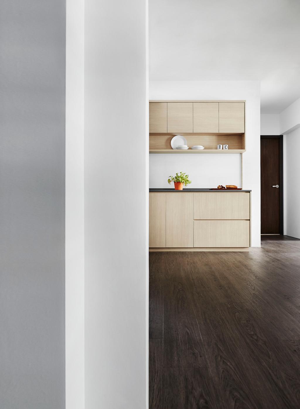 Minimalistic, HDB, Kitchen, Edgedale Plains, Interior Designer, Dan's Workshop, Scandinavian