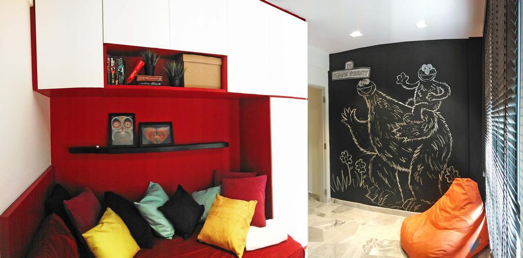 Contemporary, Condo, Bedroom, The Resident, Interior Designer, Sachi Interiors, Couch, Furniture, Blackboard