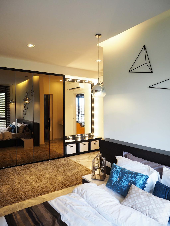 Contemporary, Condo, Bedroom, The Resident, Interior Designer, Sachi Interiors, Apartment, Building, Housing, Indoors, Loft, Interior Design, Room, Lighting
