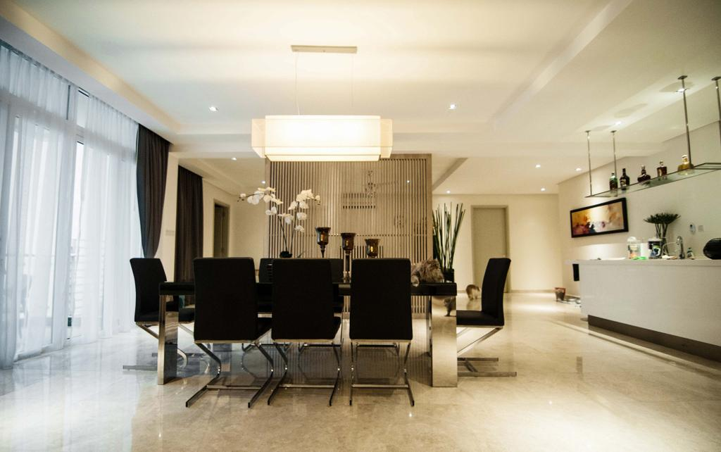 Modern, Condo, Dining Room, Tijani 2 Bukit Tunku, Interior Designer, Sachi Interiors, Chair, Furniture, Indoors, Interior Design, Room