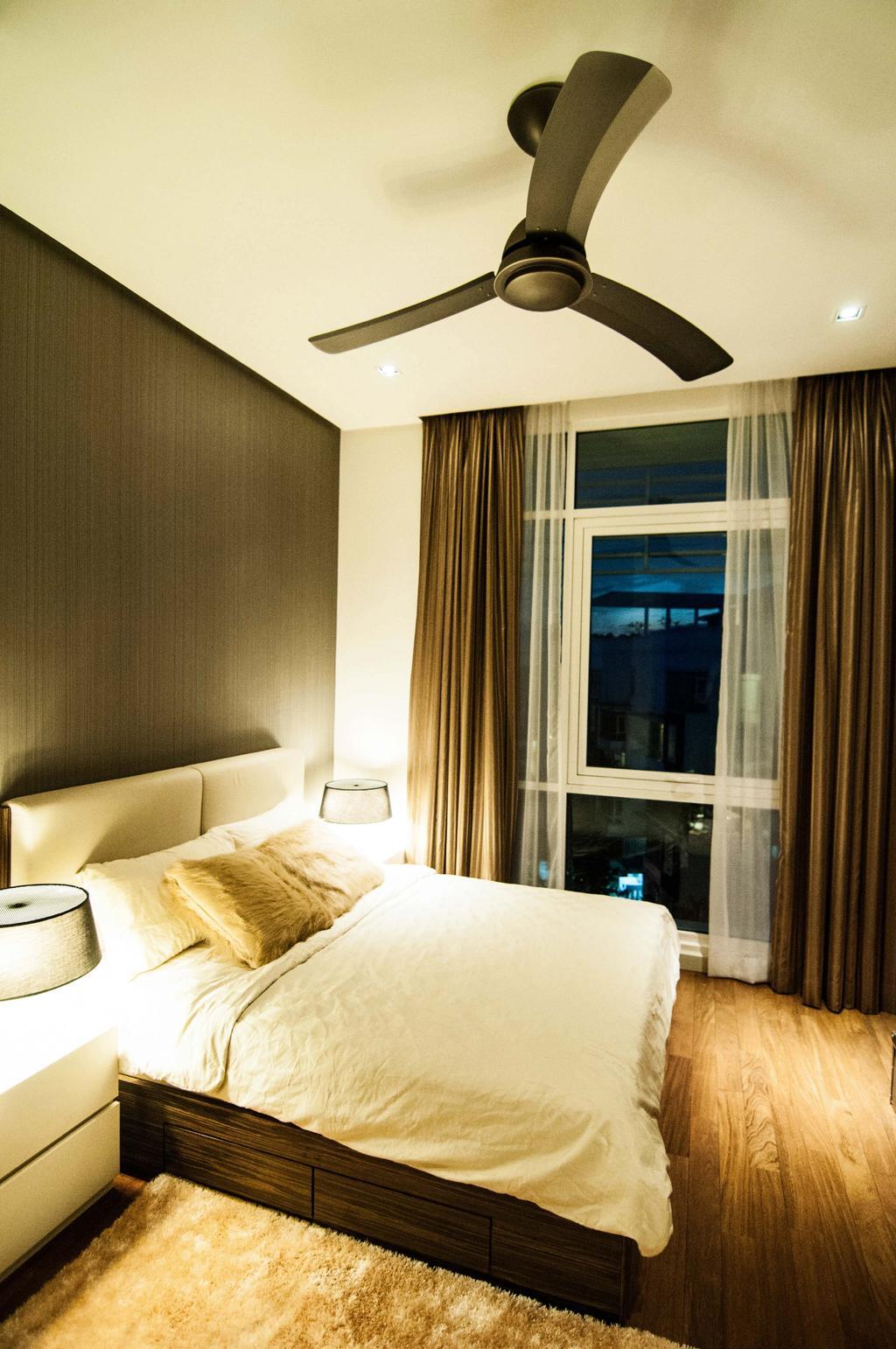 Modern, Condo, Bedroom, Tijani 2 Bukit Tunku, Interior Designer, Sachi Interiors, Indoors, Interior Design, Room