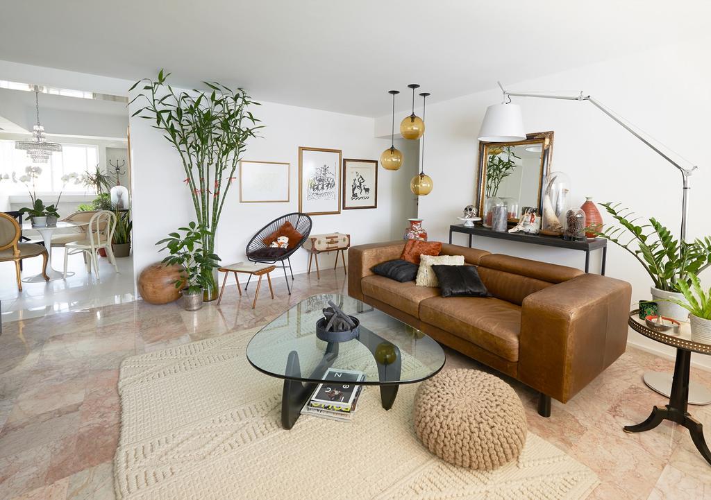 Vintage, HDB, Living Room, Telok Blangah Way, Interior Designer, Create, Flora, Jar, Plant, Potted Plant, Pottery, Vase, Couch, Furniture, Indoors, Interior Design, Room, Shelf
