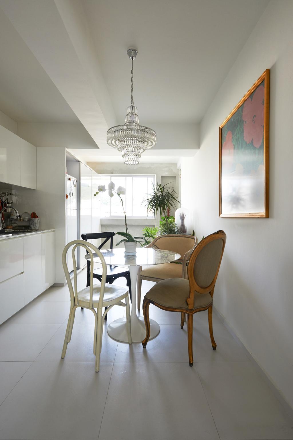 Vintage, HDB, Dining Room, Telok Blangah Way, Interior Designer, Create, Chair, Furniture, Flora, Jar, Plant, Potted Plant, Pottery, Vase, Indoors, Interior Design, Room, Dining Table, Table