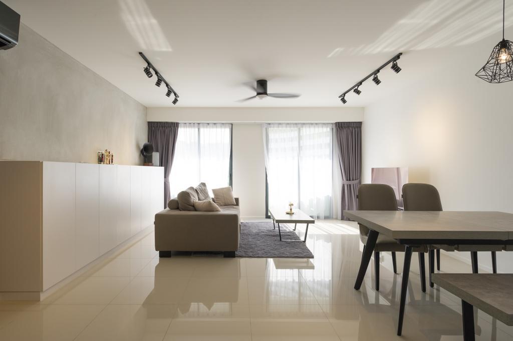 Scandinavian, HDB, Living Room, Punggol Walk (Block 308A), Interior Designer, ELPIS Interior Design, Minimalistic, Dining Table, Furniture, Table, Chair, Dining Room, Indoors, Interior Design, Room