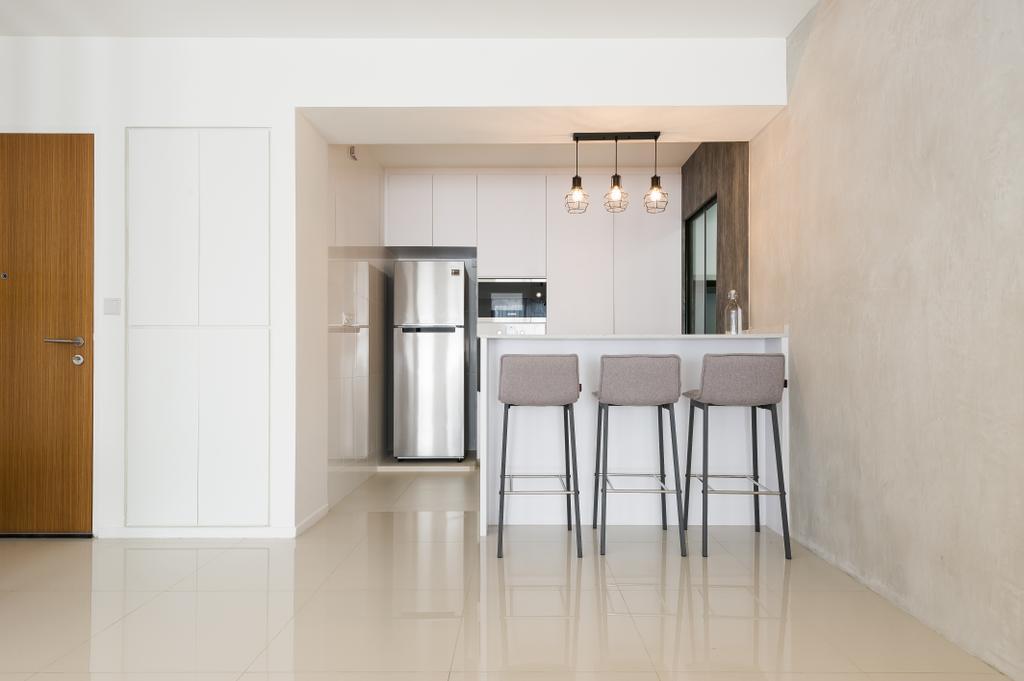 Scandinavian, HDB, Kitchen, Punggol Walk (Block 308A), Interior Designer, ELPIS Interior Design, Minimalistic, Chair, Furniture, Building, Housing, Indoors