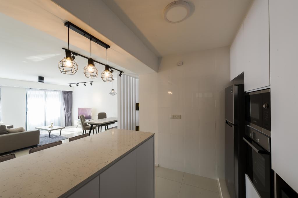 Scandinavian, HDB, Kitchen, Punggol Walk (Block 308A), Interior Designer, ELPIS Interior Design, Minimalistic, Indoors, Interior Design