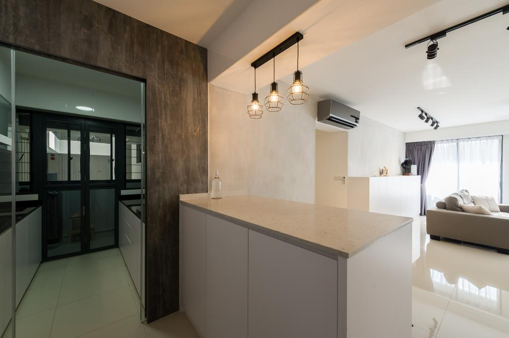 Scandinavian, HDB, Kitchen, Punggol Walk (Block 308A), Interior Designer, ELPIS Interior Design, Minimalistic, Box
