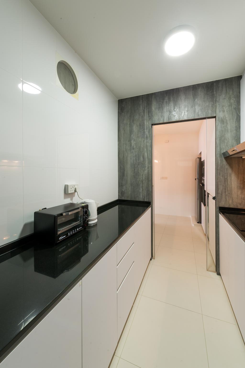 Scandinavian, HDB, Kitchen, Punggol Walk (Block 308A), Interior Designer, ELPIS Interior Design, Minimalistic, Electronics, Stereo, Building, Housing, Indoors