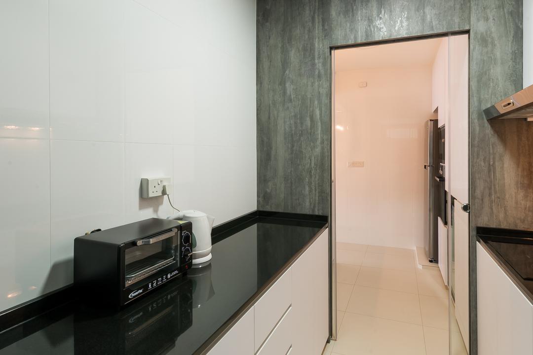 Punggol Walk (Block 308A), ELPIS Interior Design, Scandinavian, Minimalist, Kitchen, HDB, Electronics, Stereo, Building, Housing, Indoors