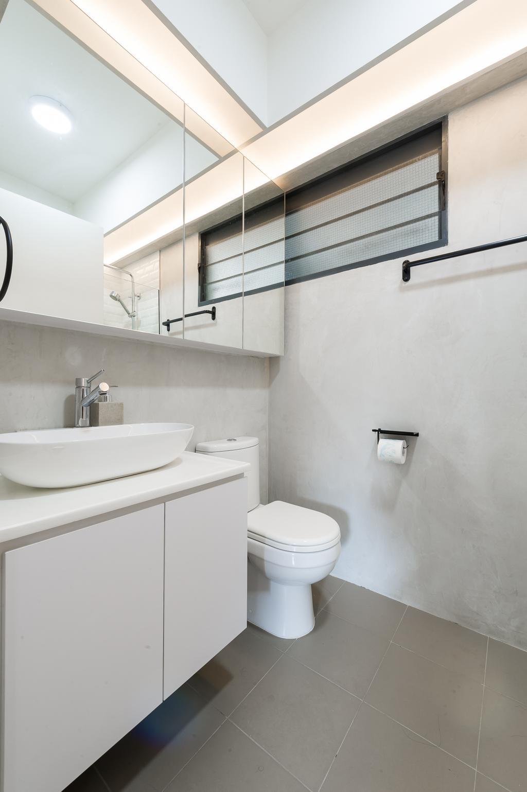Scandinavian, HDB, Bathroom, Punggol Walk (Block 308A), Interior Designer, ELPIS Interior Design, Minimalistic, Toilet