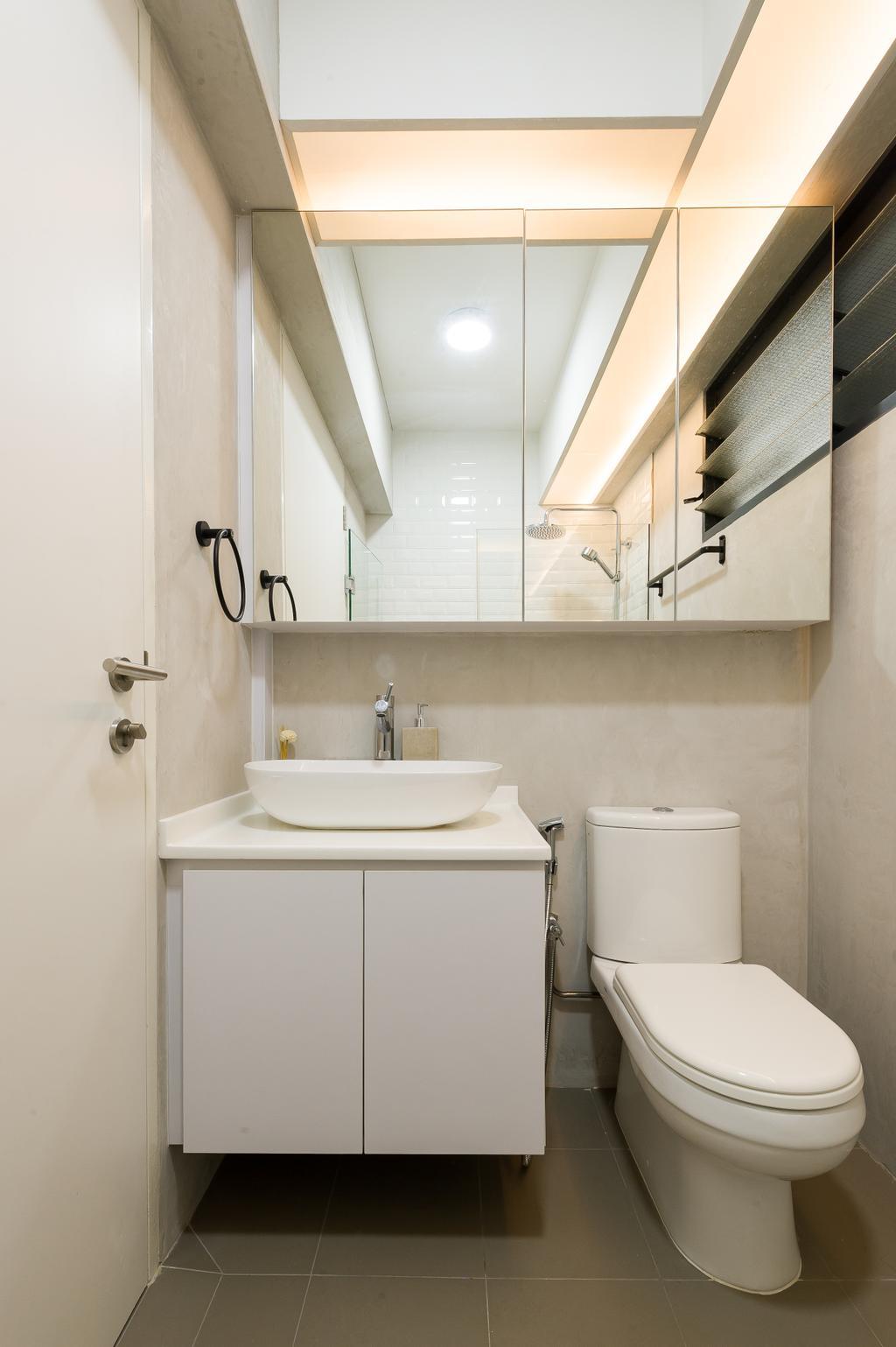 Scandinavian, HDB, Bathroom, Punggol Walk (Block 308A), Interior Designer, ELPIS Interior Design, Minimalistic
