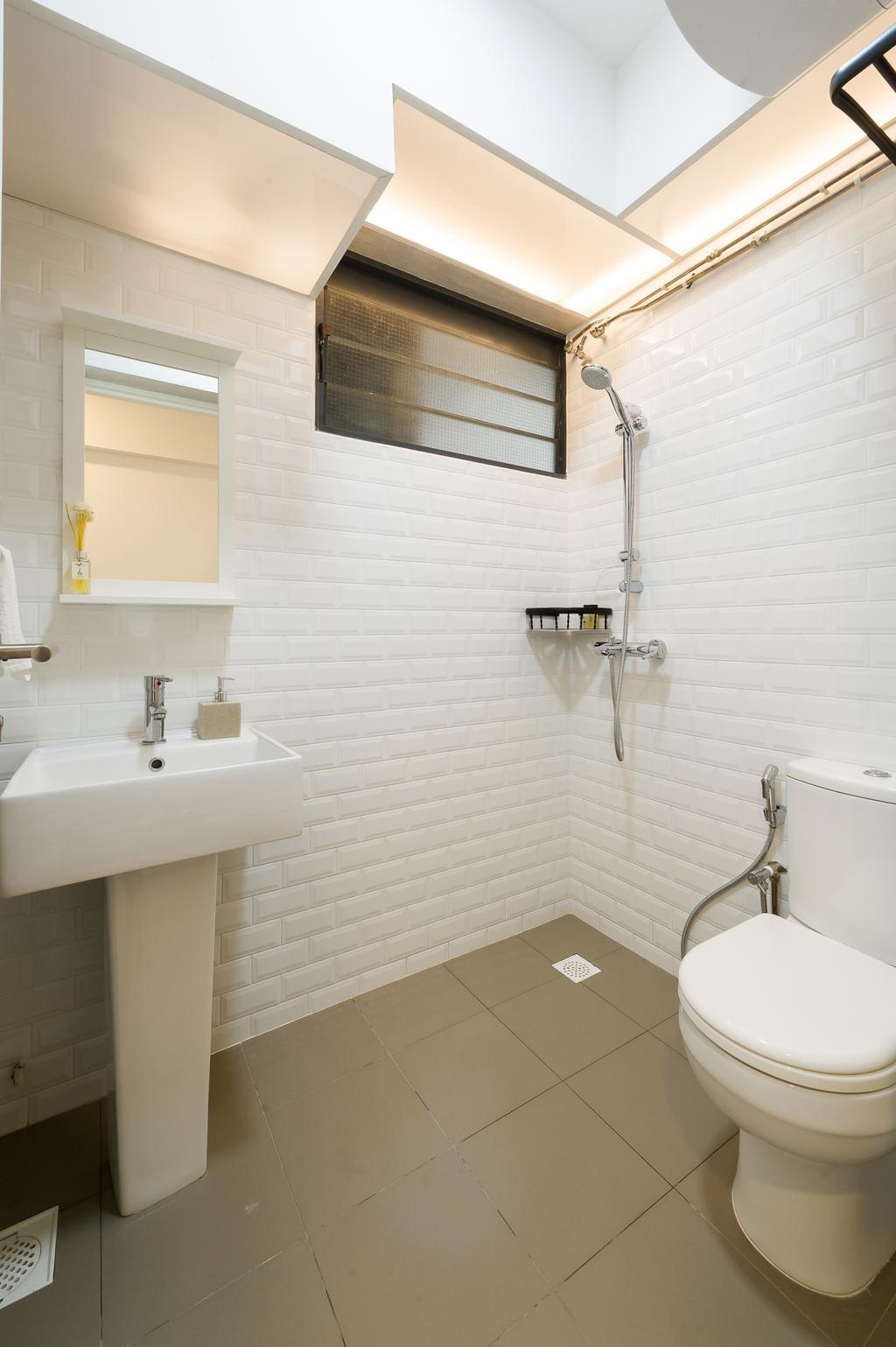 Scandinavian, HDB, Bathroom, Punggol Walk (Block 308A), Interior Designer, ELPIS Interior Design, Minimalistic, Indoors, Interior Design, Room