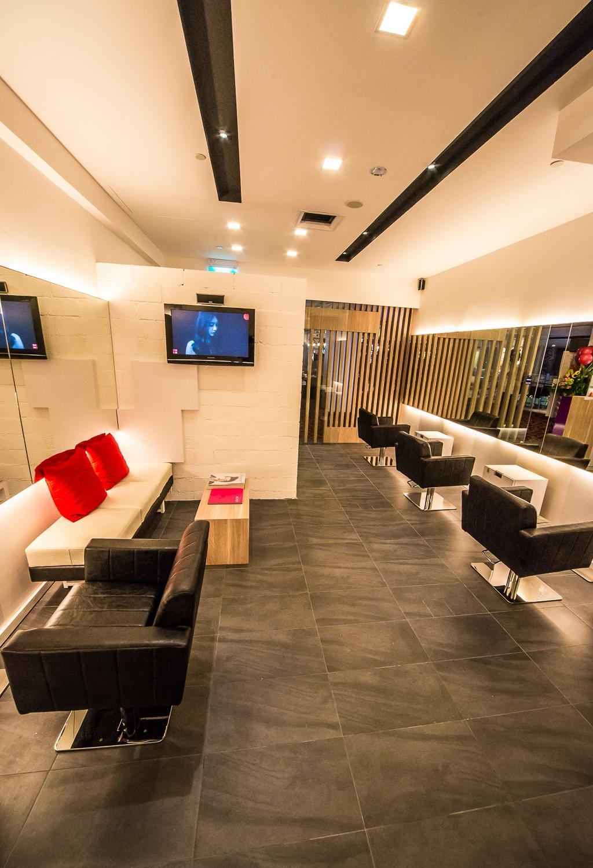 Starlight Hair Salon, Commercial, Interior Designer, Edge Interior, Contemporary, Couch, Furniture, Chair, Dining Room, Indoors, Interior Design, Room