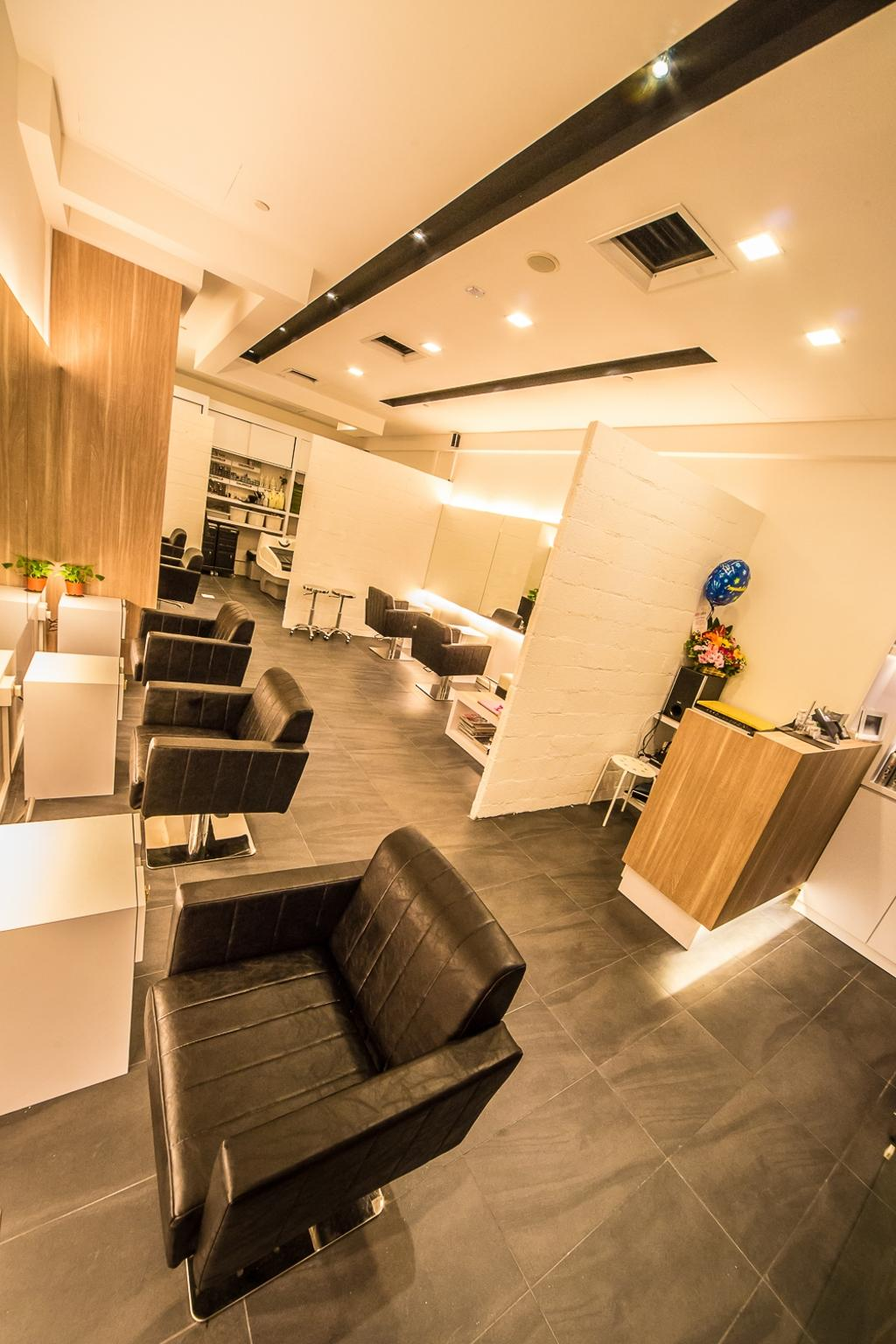 Starlight Hair Salon, Commercial, Interior Designer, Edge Interior, Contemporary, Chair, Furniture, Plywood, Wood