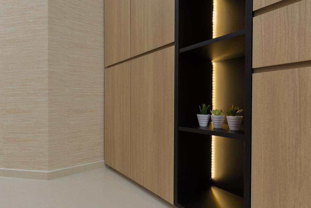 Modern, Condo, Living Room, Riverbank @ Fernvale, Interior Designer, Charlotte's Carpentry, Siding, Door, Sliding Door