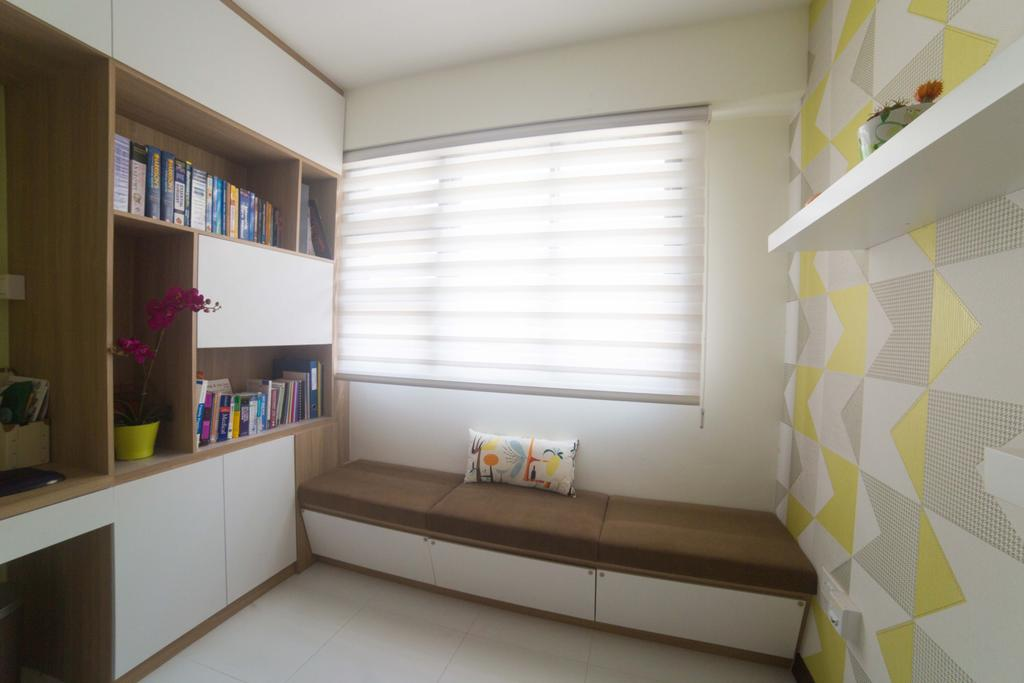 Modern, HDB, Study, Punggol Field (Block 259C ), Interior Designer, Juz Interior, Bookcase, Furniture, Indoors, Interior Design