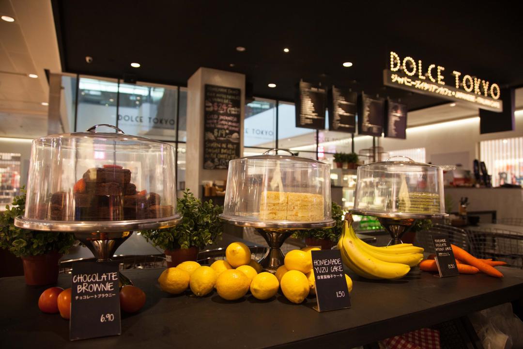 Dolce Tokyo Cafe, Juz Interior, Contemporary, Commercial, Flora, Jar, Plant, Potted Plant, Pottery, Vase, Banana, Food, Fruit, Produce