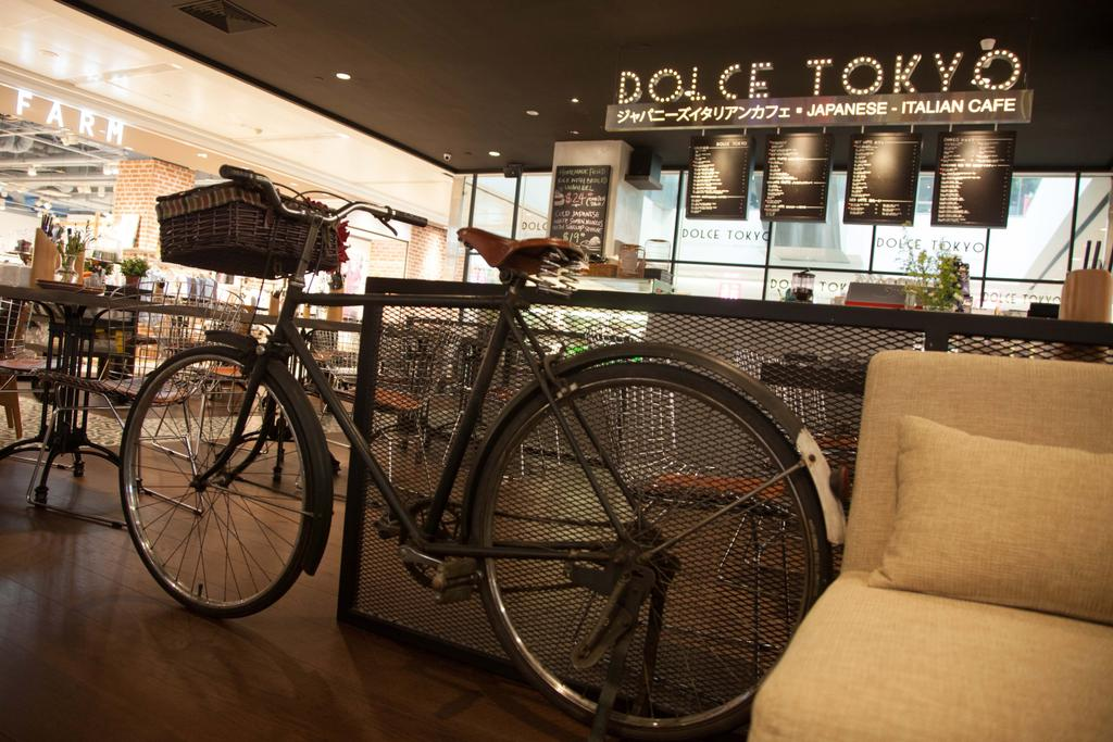 Dolce Tokyo Cafe, Commercial, Interior Designer, Juz Interior, Contemporary, Bicycle, Bike, Transportation, Vehicle, Chair, Furniture