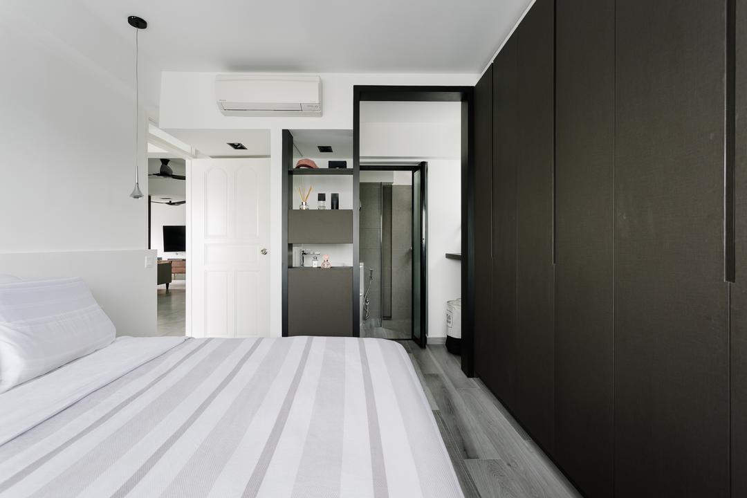 Marine Crescent, Habit, Modern, Eclectic, Bedroom, HDB, Corridor, Projection Screen, Screen