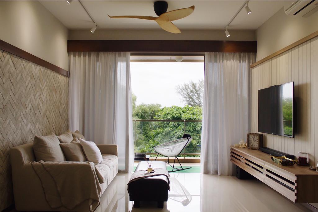 Minimalistic, Condo, Living Room, Sea Horizon, Interior Designer, Authors • Interior & Styling, Couch, Furniture, Bedroom, Indoors, Interior Design, Room
