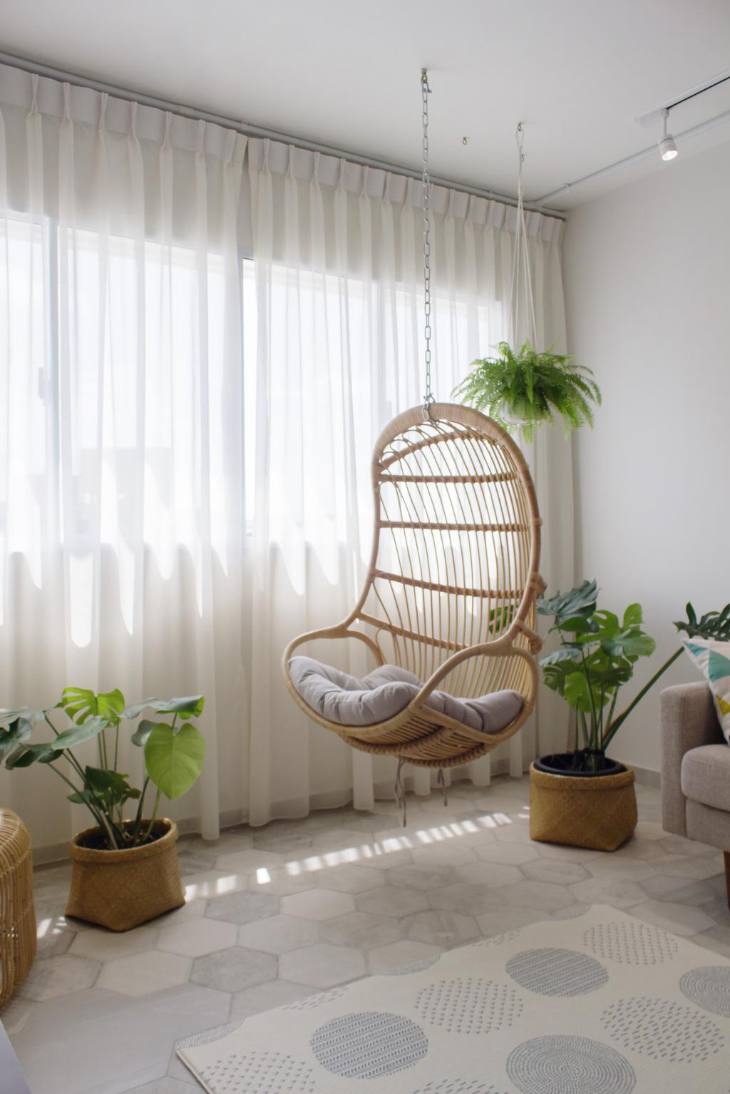 Minimalistic, HDB, Living Room, Pasir Ris Street 11 (Block 110), Interior Designer, Authors • Interior & Styling, Flora, Jar, Plant, Potted Plant, Pottery, Vase