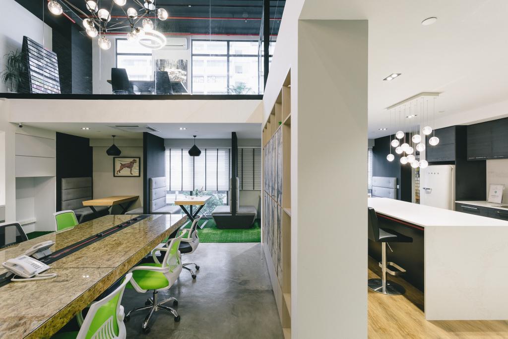 Schemacraft Showroom, Commercial, Interior Designer, Schemacraft, Contemporary, Dining Room, HDB, Building, Housing, Indoors, Loft