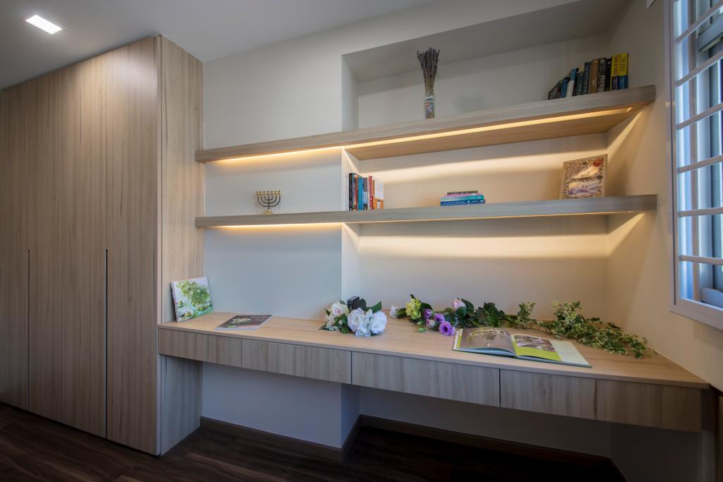 Modern, HDB, Study, Chai Chee, Interior Designer, Schemacraft, Flora, Jar, Plant, Potted Plant, Pottery, Vase, Indoors, Interior Design