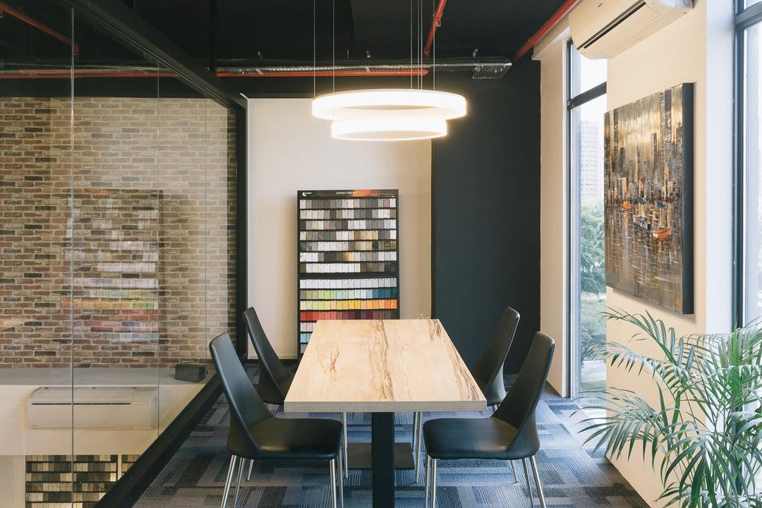 Schemacraft Showroom, Schemacraft, Contemporary, Study, Commercial, Chair, Furniture, Flora, Jar, Plant, Potted Plant, Pottery, Vase, Dining Room, Indoors, Interior Design, Room, Dining Table, Table, Aloe
