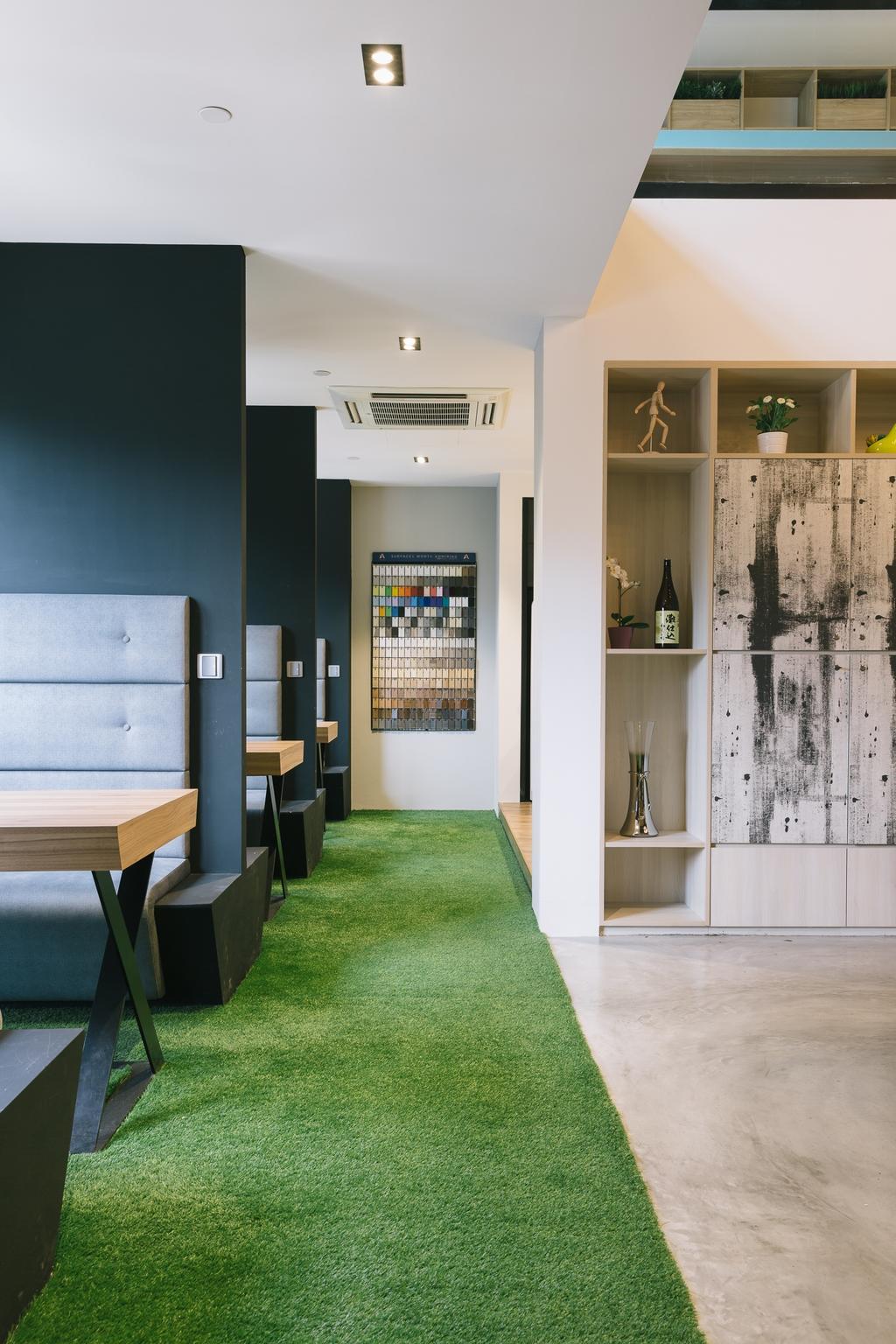 Schemacraft Showroom, Commercial, Interior Designer, Schemacraft, Contemporary, Dining Room, Chair, Furniture, Bench