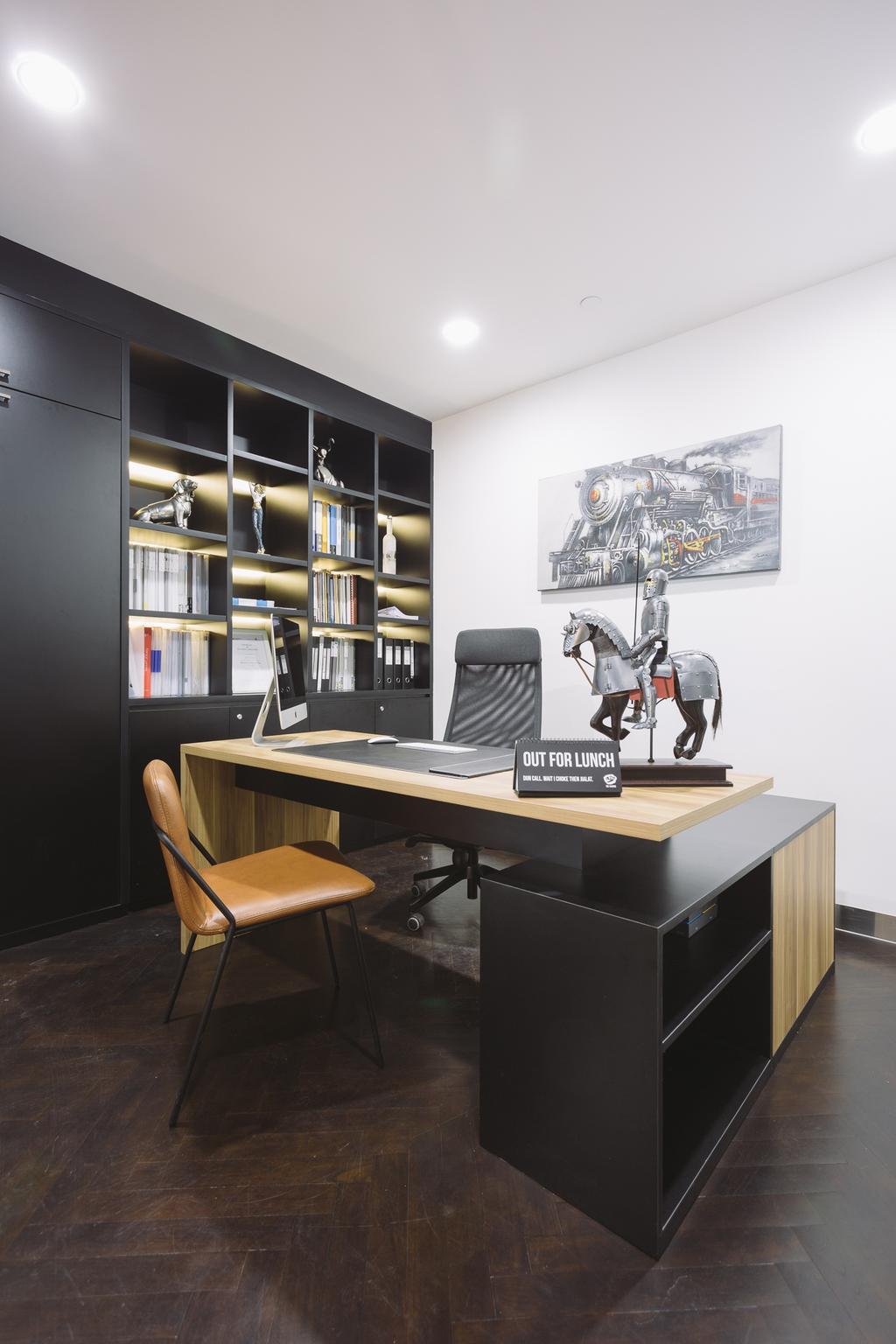 Schemacraft Showroom, Commercial, Interior Designer, Schemacraft, Contemporary, Living Room, Chair, Furniture, Desk, Table, Sink