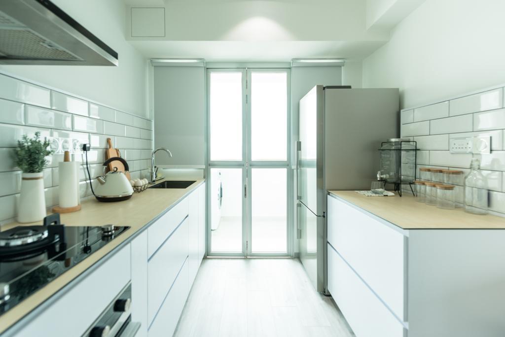 Minimalistic, HDB, Bendemeer Light, Interior Designer, Mr Shopper Studio, Scandinavian, Appliance, Electrical Device, Oven, Indoors, Interior Design, Kitchen, Room