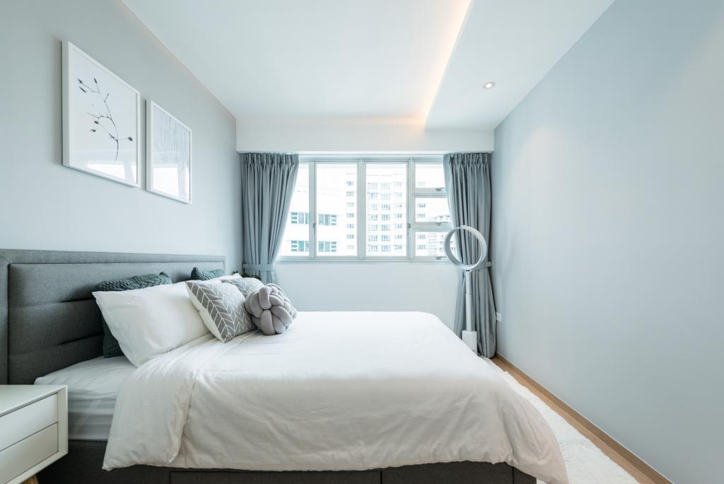 Minimalistic, HDB, Bendemeer Light, Interior Designer, Mr Shopper Studio, Scandinavian, Bedroom, Indoors, Interior Design, Room