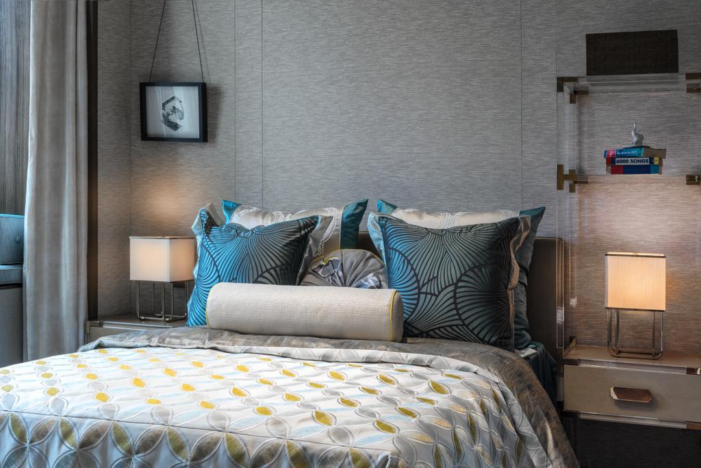 Contemporary, Landed, Bedroom, G Villa, Interior Designer, A.RK Interior Design, Bench, Bed, Furniture